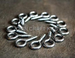 Wholesale Silver Hook Bail - 4000pcs mix size Eye HOOK Craft supply Silver finish hook, Key hook, Screw Bail