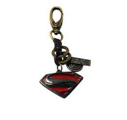 Wholesale Big Cool Cars - Big sale new cool resin wolf head red superman compass charm key chain key rings for bags or car key