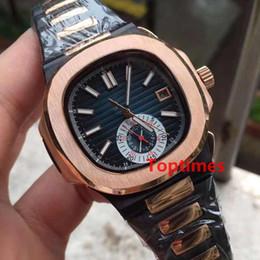 Wholesale Binger Men Watch - Luxury Brand Stalinless Steel Brown Dial Date Automatic Mens Watch Top Water Resistant Man Mens Chronograph Watches Nautilus 5980 Reloj