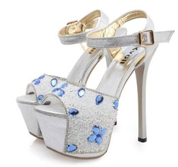Wholesale Kvoll Dress Shoes - Sexy nightclub wrist and women shoes, shoe heel ultra cool with waterproof Taiwan show thin diamond flower sandals kvoll in the summer of 20