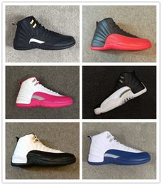 Wholesale carbon fiber shoes - Classic 12 Basketball Shoes 12s Flu Game taxi bred French blue The Master GS OG Factory Quality Version Carbon fiber zoom inside