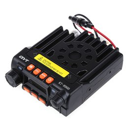 Wholesale Vhf Uhf Car Transceiver - Wholesale-Dual Band VHF 136 - 174   UHF 400 - 480MHz Car Mobile Transceiver Two Way Radio with Programming Cable Walkie Talkie for Vehicle