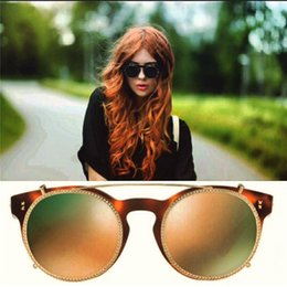 Wholesale Sheets Cats - Popular fashion sunglasses sheet frame with metal diamonds frame removable special design noble and simple two styles top quality 4099