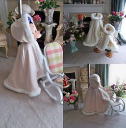 Wholesale Ivory Faux Fur Wrap Girl - Hallowen Christmas Pink Children's Air Cloak Cheap Autumn Winter Warm Shawl Free Shipping Cheap Cute Girl Wrap