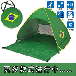 Wholesale Two Person Beach Tent - Sun shelter 2-3 Persons fishing tent Outdoor camping hiking beach summer tent UV protection fully sun shade Quick Automatic Opening