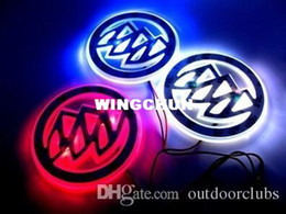 Wholesale Red Buick - Buick LED Logo Light Car Badge Blue Red White 2D Auto Sticker Light Rear Emblem Lamp Waterproof Anti Dust Size 8.7*8.7CM Available