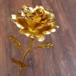 doces de valentim Desconto 10 Pcs Valentine 24 k folha de ouro puro ouro rose rosas cheias de doce presente dos Namorados para o seu amante para sempre amor rosa de ouro rosas