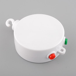 Wholesale Kids Cots - 1 Pcs White 12 Melodies Song Baby Kids Mobile Windup Crib Electric Bed Bell Autorotation Music Box Cots Songs