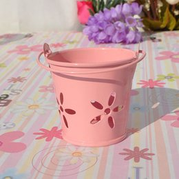 Wholesale Metal Favor Pail Candy - Mini Metal Bucket Tin Candy Box Buckets for Wedding Party Souvenirs Gift Pails Event & Party Supplies ZA4828