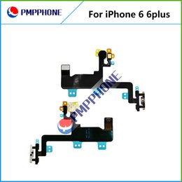 """Wholesale Iphone Parts Mic - New Power Switch ON OFF Button Flash Light Mic Flex Cable Ribbon For iPhone 6G 6 Plus 4.7'' 5.5"""" Replacement Part"""