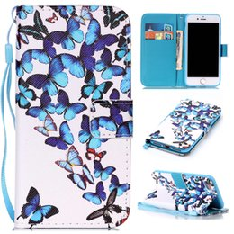 Wholesale wallet painting - Magnetic Case For Apple iPhone 7 fashion Luxury Painting PU Leather Case Card Slot Stand Wallet Phone Cover For Apple iPhone7 i Phone7