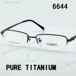 437c92e0e86 HOT SALE-Free shipping pure titanium men s eyeglasses 2017 HOT myopia reading  glasses bifocal eyewear prescription glasses YASHILU