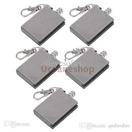 Wholesale Metal Match Lighter Gas Oil - Wholesale-5Pcs Metal Match Lighter Gas Oil Fire Starter Keychain for Camping Outdoor