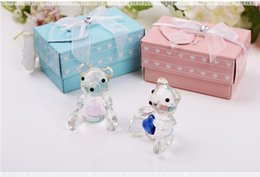 Wholesale wholesale shower favors - Teddy crystal bear furnishing articles for Wedding favors gifts and Baby shower souvenirs Creative crystal gifts furnishing articles