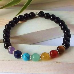 Wholesale Turquoise Bracelet For Parties - SN0341 Design yoga bracelet 7 chakra black onyx stone bracelet spiritual healing bracelet for womens turquoise jewelry