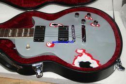 Wholesale Grey Electric Guitars - NEW Custom Shop promotion Chinese grey Electric Guitar with case HOT SALE