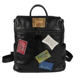 bolsa de mochila de patchwork Desconto Hotsale marca nova qualidade soberba mulheres reais de couro do couro patchwork impressão mochila escolar ombros bag tote satchel bolsa DD08