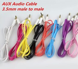 iphone auxiliary cord Australia - 3.5mm Colorful Flat Noodle Aux Audio Auxiliary Cable Jack Male to Male Plug Stereo Cord Wire for Iphone 6plus Mobile Phone pill Speaker