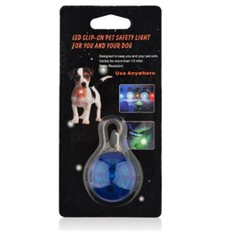 Wholesale Dog Cats Collars - LED Lamps Kinds of Color for Choose Safety Dog Cat Night Light Flashing Colour Buckle Collar Pet Luminous