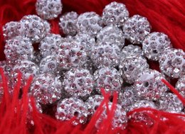 Wholesale Shamballa Pave Balls - Cheap! free shipping 1000pcs lot white 10mm Micro Pave CZ Disco Ball Crystal Shamballa Bead.Best bead for Bracelet .