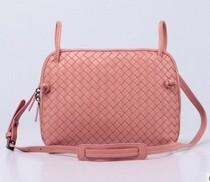 Wholesale nude crochet - Fashion woven leather handbag sheepskin shoulder bag Leather handbag