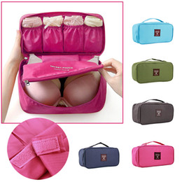 Wholesale Type Lingerie - 1 PCS Portable Protect Bra Underwear Lingerie Case Travel Organizer Bag wardrobe organizer Waterproof travel accessories