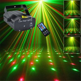 Wholesale Meteor Lights - Mini Portable IR Remote R&G Meteor Laser Projector Lights LED DJ KTV Home Xmas Party Dsico Show Stage Lighting OI100B