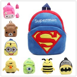 Wholesale Bag Mini Toys - 2016 New Cute Cartoon Kids Plush Backpack Toys Mini Schoolbag Children's Gifts Kindergarten Boy Girl Baby Student Bags Lovely Mochila