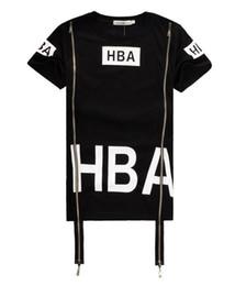 Wholesale X Ray Shirt - 2016 Men Fashion Hip Hop T- Shirt Zipper Side HBA Hood By Air Harajuku t shirts for men Spinal Cord X-ray Streetwear Tees
