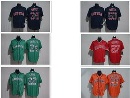 Wholesale White Sox Baseball Jersey Xl - 2017 New Arrival Men's Red Sox 34 Ortiz 50 Betts Mariners 22 Cano 24 Griffey Astros 27 Altuve Angels 27 Trout Printing Blue Baseball Jerseys