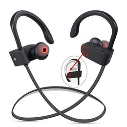 Wholesale D Brand - DXVROC Bluetooth Headphones Headset Mic Earphones Wireless Sports Headphone IPX7 Sweatproof Heavy Bass Stereo Headset ( US Has Stock )