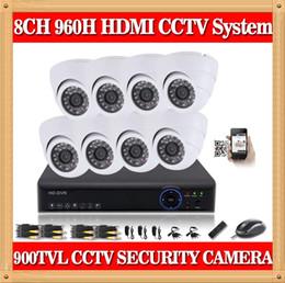 Sistema de seguridad CIA- 8CH CCTV 960H DVR 900TVL cámara domo interior Kit de sistema de video vigilancia Soporte pc móvil iphone cms ver desde fabricantes