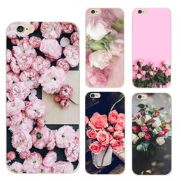 Wholesale Silicon Flowers - Colorful Floral Phone Cases For iPhone 7 Flowers Rose Case Soft TPU Silicon Back Cover Capa For iPhone7 6 6s Plus 5 5S SE