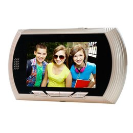 """Wholesale Lcd Digital Door Viewer - 4.3"""" LCD Color Screen Doorbell Viewer Digital Door Peephole Viewer Camera Door Eye Video Record 140 Degrees Night Vision 3 Color"""