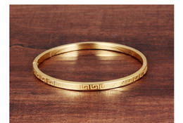 Wholesale Gold Plated Great Wall - 2016 Fashion Women' s charm bracelets Stainless Steel Bracelets The Great Wall 18K Gold Plated Bangles For Wholesales