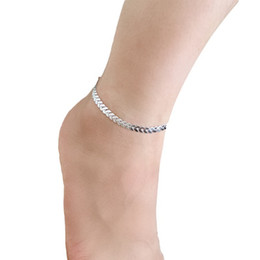 Wholesale 18k Gold Snake Ring - Europe and the United States simple fine metal arrows sequined snake bone anklet feet ring foot decoration