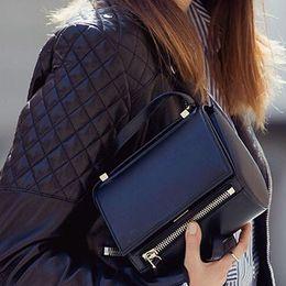 Wholesale Black Leather Hobo Purse - Fashion women messenger bags designer ol mini shoulder bag vintage women leather handbags ladies clutch purses and handbags bolsa feminina