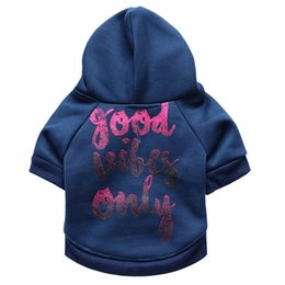 Wholesale Thanksgiving Sweaters Sale - Pet Sweater Puppy T Shirt Dog Cat Warm Hoodies Coat Clothes Apparel,Good Vibes Only for Sale Fast Free Shipping