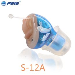 Wholesale Up Hearing Aid - Free shipping digital Ear Sound Amplifier Cheap ITC Hearing Aid S-12A up sound amplifier Free Shipping