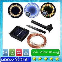 Wholesale Board Meter - 10m 100leds IP65 led Solar string RGB light Copper wire Festive Lighting Christmas garden lights 10 meter Wedding Lighting+Solar lamp board