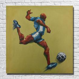 fußball bilderrahmen Rabatt Handgemachtes Spiel Fußball Bilder auf Leinwand Wohnkultur Wohnzimmer Wandbilder Moderne Günstige Ölgemälde 1 Peices No framed