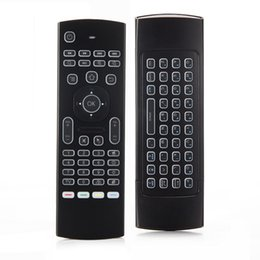 Wholesale Wireless Air Mouse Gyro - MX3 2.4G Backlight 6-Axis Gyro Air Mouse Motion-Sensing Wireless Keyboard for TV Box Projector HTPC All-in-one PC TV