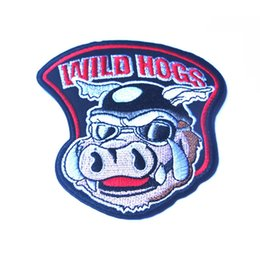 """Wholesale Iron Rider - 2016 30 PCS 4"""" Wild Hogs Motocycle Rider Biker Gang Iron On Vest Jacket Patch Embroidered Patches Badges Fabric Armband Stickers 1894"""