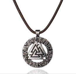 Wholesale Necklace For Men S - 1pcs Slavic Norway Pendant Necklace For Women Men Necklace Scandinavian Odin 's Symbol of Norse Viking Jewelry