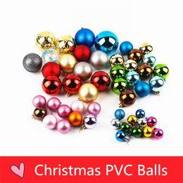tiendas de paquetes Rebajas Decoraciones de Navidad galvanoplastia paquete de plástico bolas de PVC tiendas de caja de regalo al hotel para decorar los accesorios del árbol al por mayor B0762