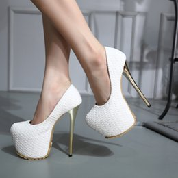 Wholesale Pump Weaves - 16cm Fashion Knnited Woven Metal Thin Heel Concealed Platform Pumps Sexy Women Wedding Shoes Size 34 to 40