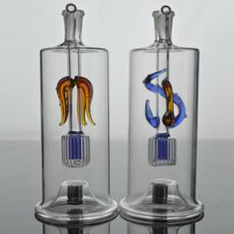 2019 inline-wabenfänger Shining Bong Inline Perc Glaswasserpfeife Honeycomb Bong 10mm Aschefänger Bong Vortex Honeycomb Shiny Oil Rigs Wasserpfeifen günstig inline-wabenfänger