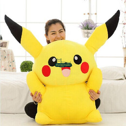 Wholesale Presents Baby - Dorimytrader 47''   120cm Japan Anime Pikachu Stuffed Soft Plush Giant Cartoon Pikachu Toy Nice Present for Baby Free Shipping DY60495