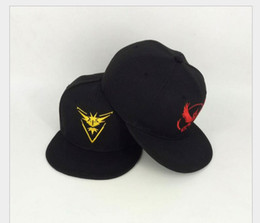 Wholesale Children Snapbacks - Poke HAT Ash baseball hats Cosplay Cap Sun Hats Team Mystic InstInct Valor hat high quality Snapbacks free shipping
