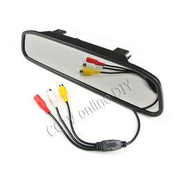 "camara de crucero terrestre Rebajas Wireless 4.3 ""LCD Car Rear View DVD retrovisor DVD Mirror + IR Kits de sistema de cámara de respaldo"